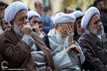 تصاویر/ تجمع طلاب و روحانیون تهرانی در مدرسه عالی شهید مطهری