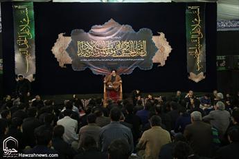 تصاویر/ مراسم عزاداری امام حسین(ع) در حسینیه شهدای قم