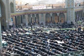 نماز ظهر تاسوعا در حرم حضرت معصومه(س) اقامه شد