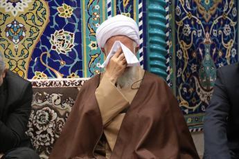 تصاویر/ مراسم سوگواری امام زین العابدین(ع) در دفتر آیت الله العظمی جوادی آملی