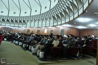 تصاویر/ تجلیل از طلاب نخبه و ممتاز حوزه علمیه قم
