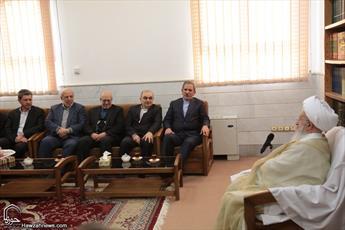 تصاویر/ دیدار معاون اول و دو وزیر دولت با مراجع تقلید