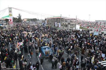 راهپیمایی حماسی ۲۲ بهمن در شهر خون و اجتهاد آغاز شد