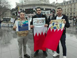 تحصن حامیان انقلاب بحرین در پاریس + تصاویر