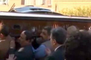 فیلم/ پیکر محمد حسنین هیکل به خاک سپرده شد