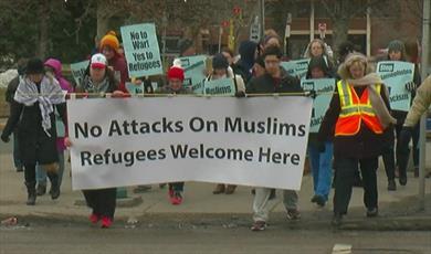تظاهرات علیه اسلامهراسی در آمریکا + عکس