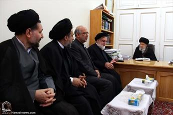 تصاویر/ دیدار رئیس بنیاد شهید  و امور ایثارگران با مراجع و علما