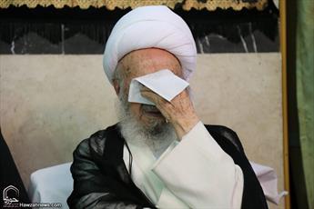 تصاویر/ سوگواری شهادت حضرت زهرا(س) در بیت آیت الله العظمی مکارم
