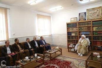 تصاویر/ دیدار نوروزی سرپرست شرکت مخابرات ایران با مراجع و علما