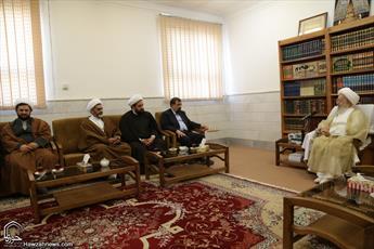 تصاویر/ دیدار دبیر مجمع تشخیص مصلحت نظام با مراجع و علما