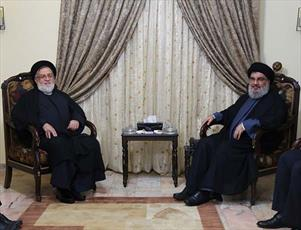 معاون رئیس جمهور با سید حسن نصرالله دیدار کرد