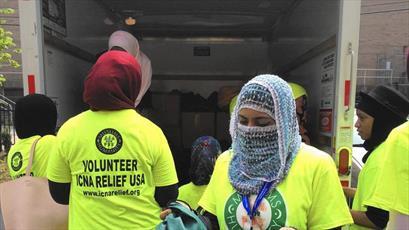 مسلمانان آمریکای شمالی ۷۰۰ بسته مهربانی میان نیازمندان توزیع کردند