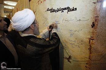 تصاویر/ بازدید آیت الله مقتدایی از بخش حوزوی نمایشگاه بین المللی قرآن
