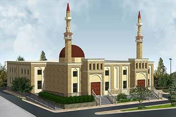 کلنگ ساخت مسجدی جدید در آمریکا زده شد
