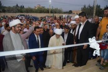 آیت الله نابلسی مسجد امام جواد(ع) را افتتاح کرد