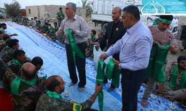 آستان مقدس کاظمین(ع) در فلوجه مجلس عزا برگزار کرد+ تصاویر