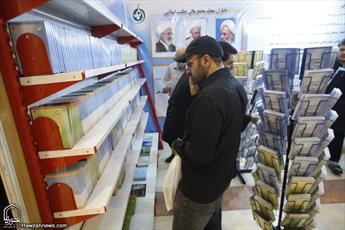 تصاویری از استقبال پرشور مردم از بخش حوزوی نمایشگاه قرآن