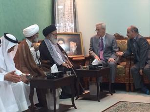 دیدار سرزده سفیر آمریکا در بحرین با آیت الله الغریفی