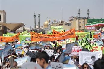 روز قدس  عرصه نمایش قدرت امت اسلامی در حمایت از ملت مظلوم فلسطین است