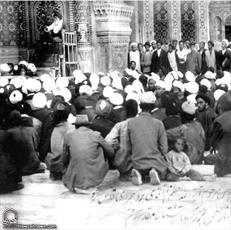 عکس/ آیت الله العظمی بروجردی(ره) در حال تدریس