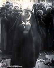 عکس/ موسس حوزه علمیه قم با عمامه مزین به تسبیح کربلا