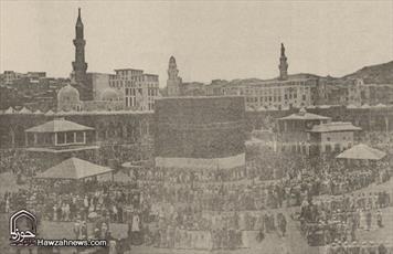 عکس/ کعبه معظمه ۱۰۲ سال قبل
