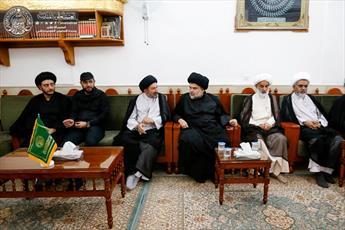 سید مقتدی صدر با تولیت آستان مقدس علوی دیدار کرد