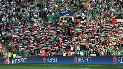 حمایت از فلسطین به سبک هواداران فوتبال + عکس