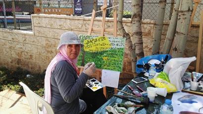 نقاشی مسلمانان و مسیحیان لبنان از جنگ ۳۳ روزه + تصاویر