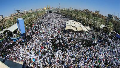 دعای عرفه با حضور میلیونی زائران امام حسین در کربلا + تصاویر