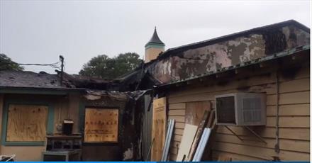مظنون متهم به آتش زدن مسجد فلوریدا دستگیر شد + تصاویر