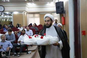 تصاویر/ عمامه گذاری طلاب در جشن میلاد امام هادی علیه السلام
