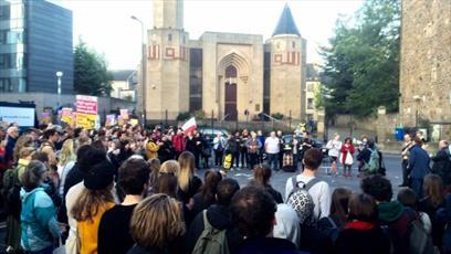 حضور صدها تن از مردم اسکاتلند در تظاهرات ضداسلامهراسی