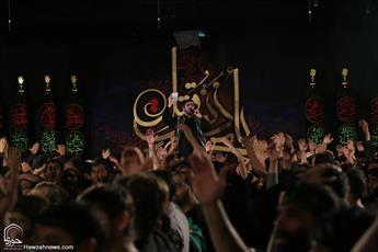 تصاویر/ مراسم عزاداری اباعبدالله الحسین(ع) در هیأت فاطمیون قم