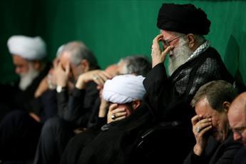 تصاویر/ مراسم سوگواری حضرت اباعبدالله الحسین (ع)در شب عاشورا با حضور رهبر معظم انقلاب