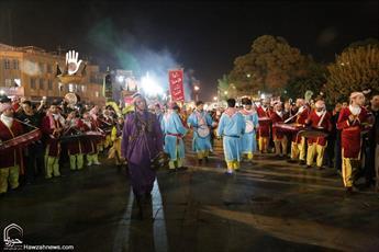 تصاویر/ کاروان نمادین اهل بیت عصمت و طهارت از کربلا به کوفه