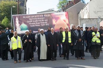 راهپیمایی عزاداری  حسینی در ولز بریتانیا+ تصاویر