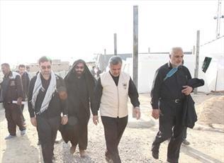 بازدید نماینده مجلس  از موکب آستان حضرت معصومه(س) در مسیر کربلا