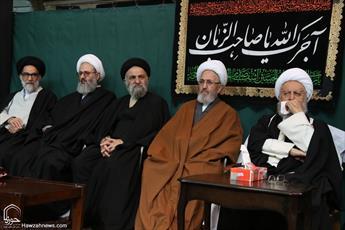 تصاویر/ بیوت مراجع و علما در سوگ پیامبر اسلام (ص)و امام حسن مجتبی(ع)