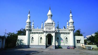 بازسازی مسجد تاریخی در حیدرآباد هند
