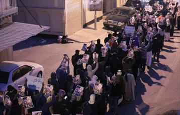 بحرینی ها صبح امروز در نزدیکی منزل شیخ قاسم تظاهرات کردند + تصاویر