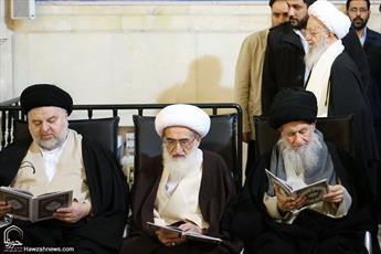 تصاویر/ مراسم هفتمین شب ارتحال آیتالله هاشمی رفسنجانی درقم