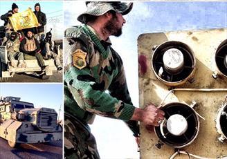 بمباران موشکی نیروهای مقاومت بر سر تروریستهای تکفیری