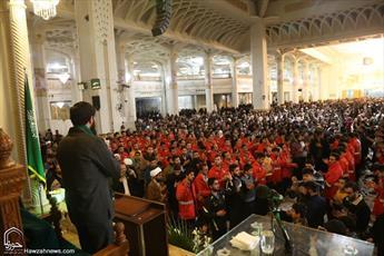 یادبود شهدای آتشنشان و شهدای بحرین در حرم حضرت معصومه(س) برگزار شد