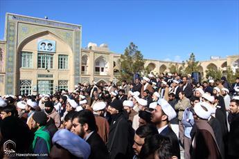 تجمع اعتراض آمیز حوزویان در حمایت از شیخ عیسی قاسم آغاز شد