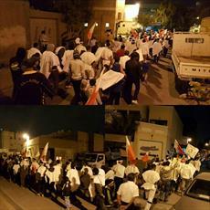 تصویر/ تظاهرات کفن پوشان بحرینی در حمایت از آیت الله عیسی قاسم