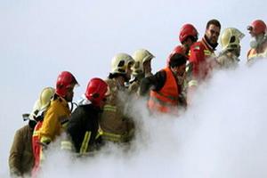 مراسم یادبود شهدای آتشنشان در مدرسه عالی شهید مطهری تهران برگزار شد
