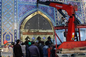 پنجره فولاد مسجد جامع گوهرشاد نصب شد