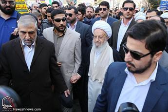 تصاویر/ حضور مراجع، علما و شخصیت ها در راهپیمایی ۲۲ بهمن