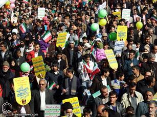 شرکت در راهپیمایی ۲۲ بهمن اعلام وفاداری به آرمان های امام(ره) و شهداست
